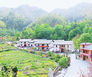 神山村敖上村上榜省5A级乡村旅游点